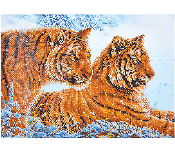 Tigers in The Snow Diamond Dotz Kit