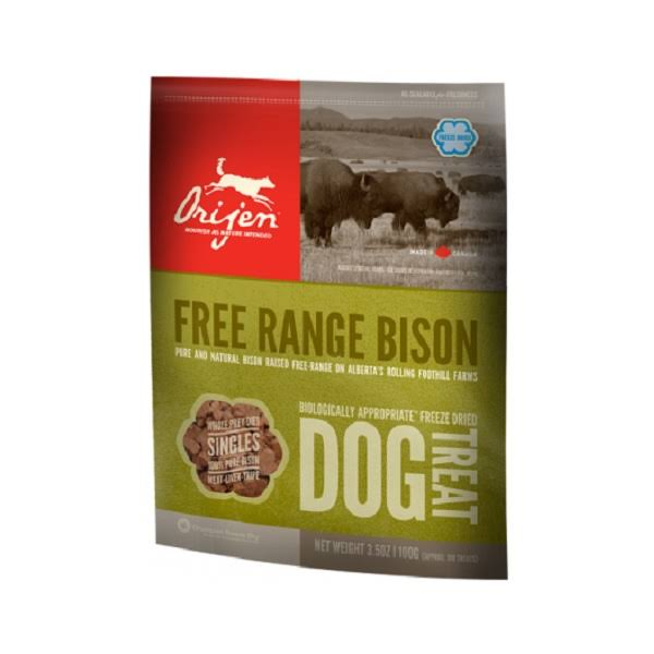 Orijen Freeze Dried Dog Treat - Free Range Bison, 2oz