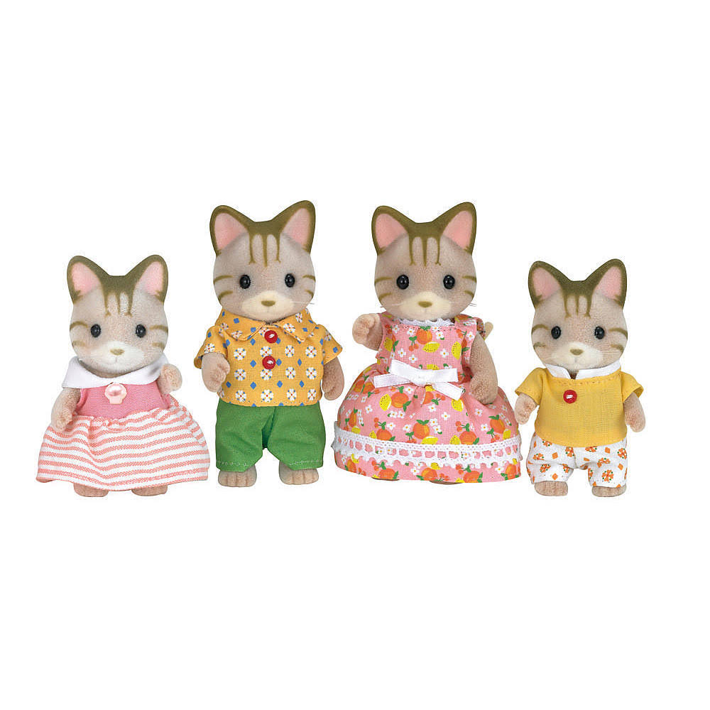 Calico Critters Stuffed Sandy Cat Family Set