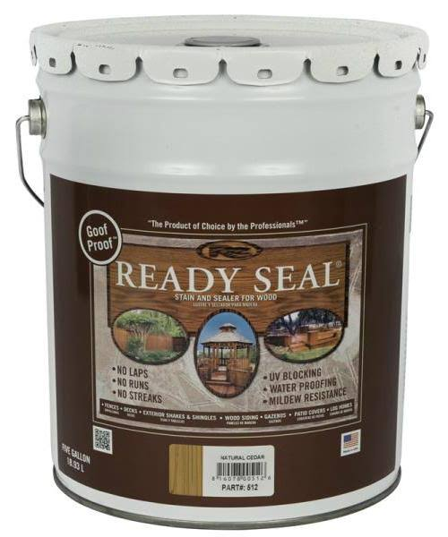 Ready Seal 512 Pail Natural Cedar Exterior Wood Stain and Sealer - 5gal