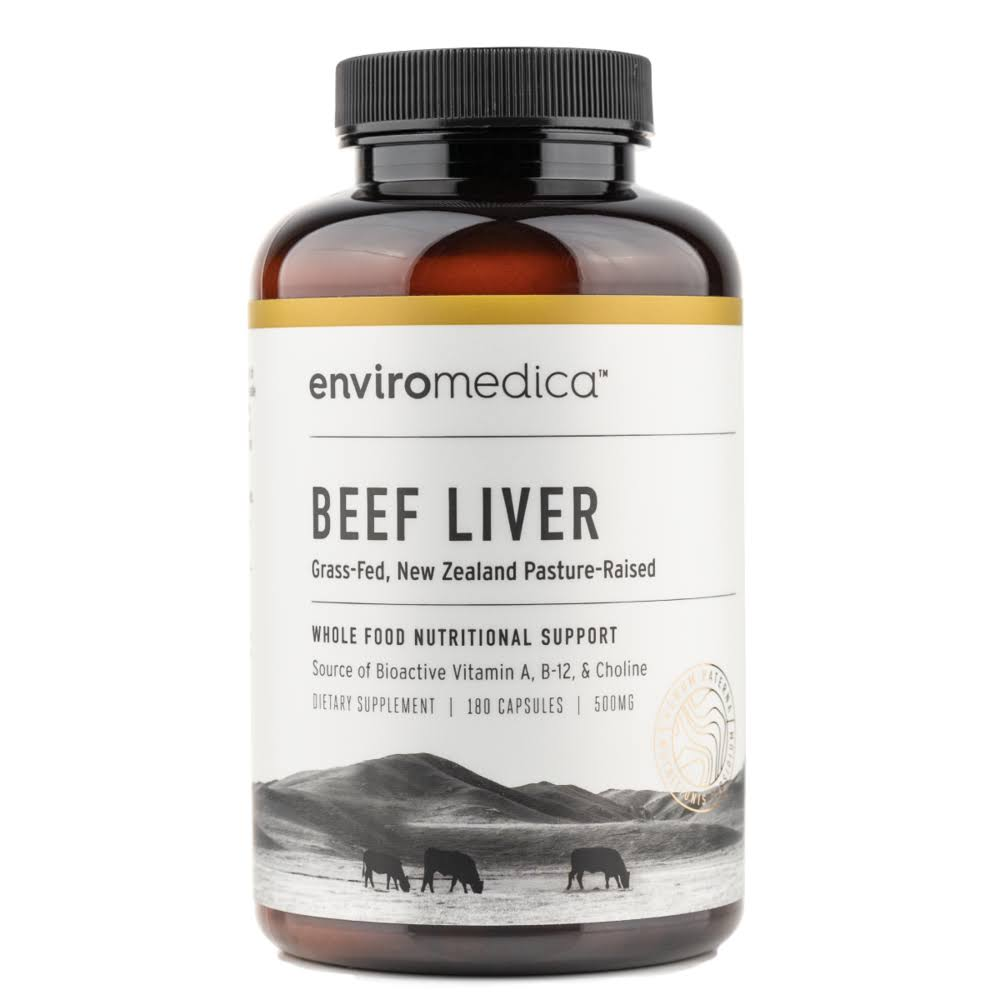 Enviromedica Grass Fed Beef Liver Supplement Capsules