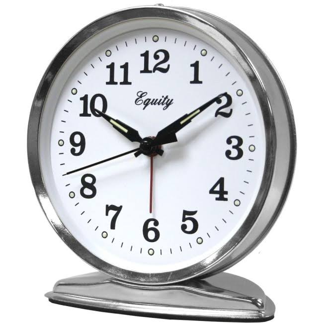 La Crosse Wind Up Loud Bell Alarm Clock - Round, 5.50""
