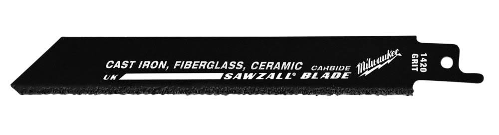 "Milwaukee Carbide Sawzall Reciprocating Saw Blades - 9"", 3pcs"