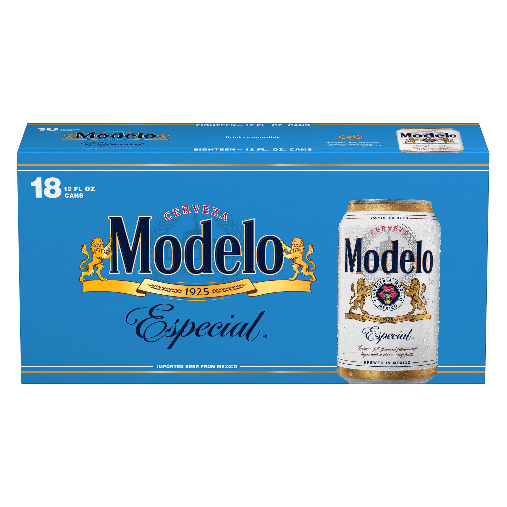Modelo Especial Beer - 18 pack, 12 fl oz cans