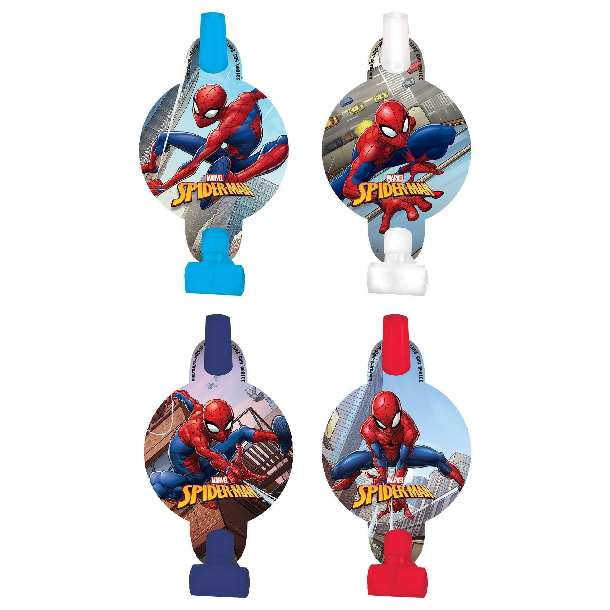 "Spiderman 5"" Blowouts (8 Pack)"