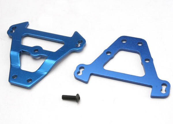 Traxxas Tra5323 Bulkhead Tie Bars - Front and Rear, Blue