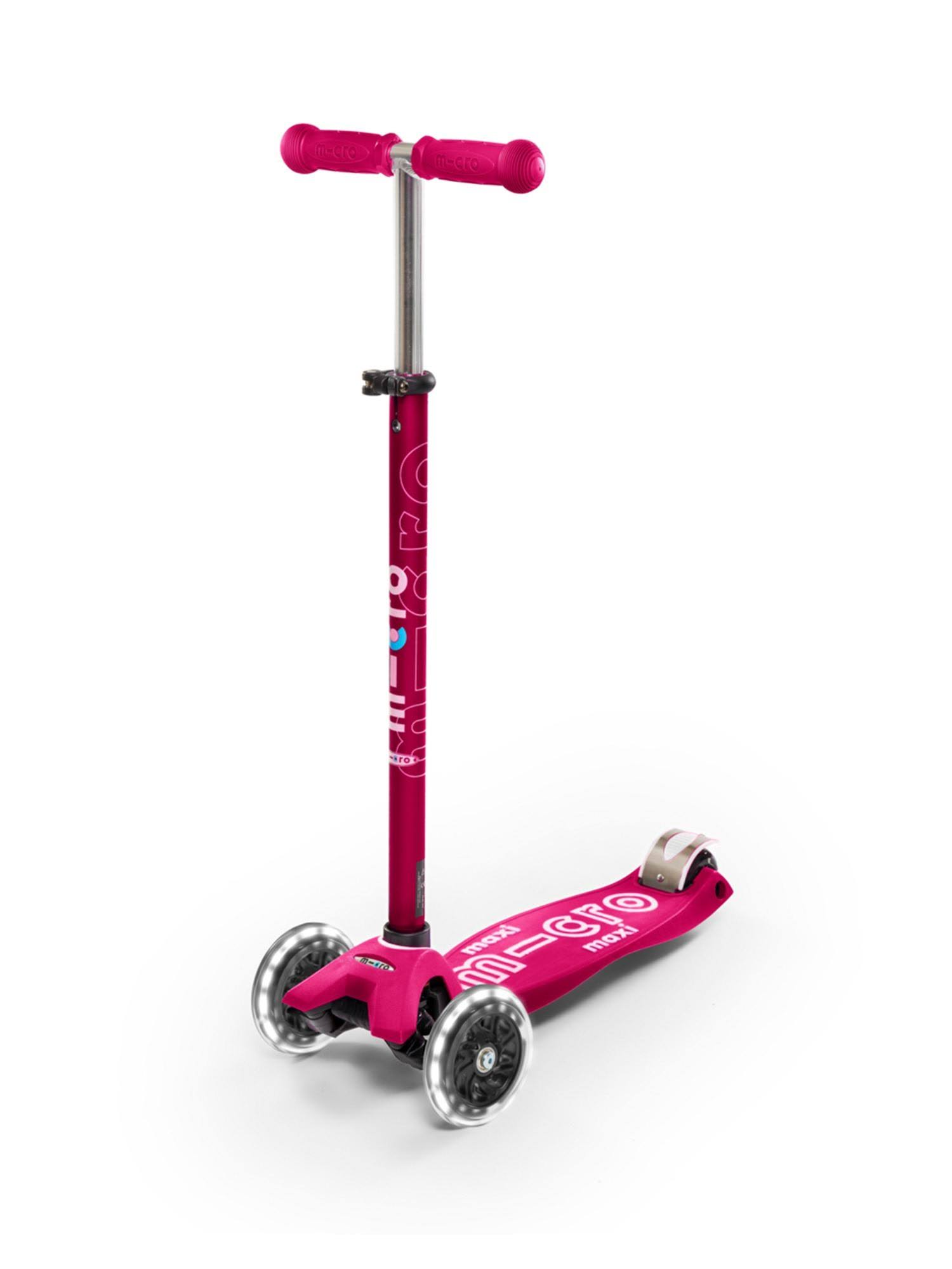 Maxi Micro Led Deluxe Scooter - Pink