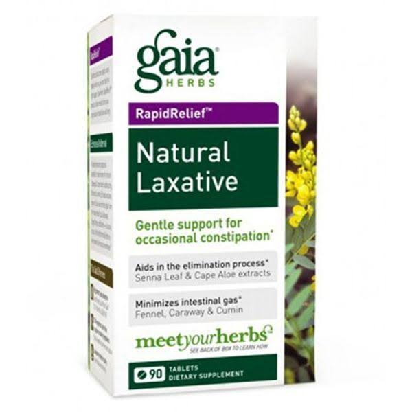 Gaia Herbs RapidRelief Natural Laxative