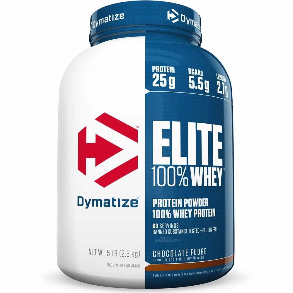 Dymatize Nutrition Elite 100% Whey Protein - Chocolate Fudge, 2270g