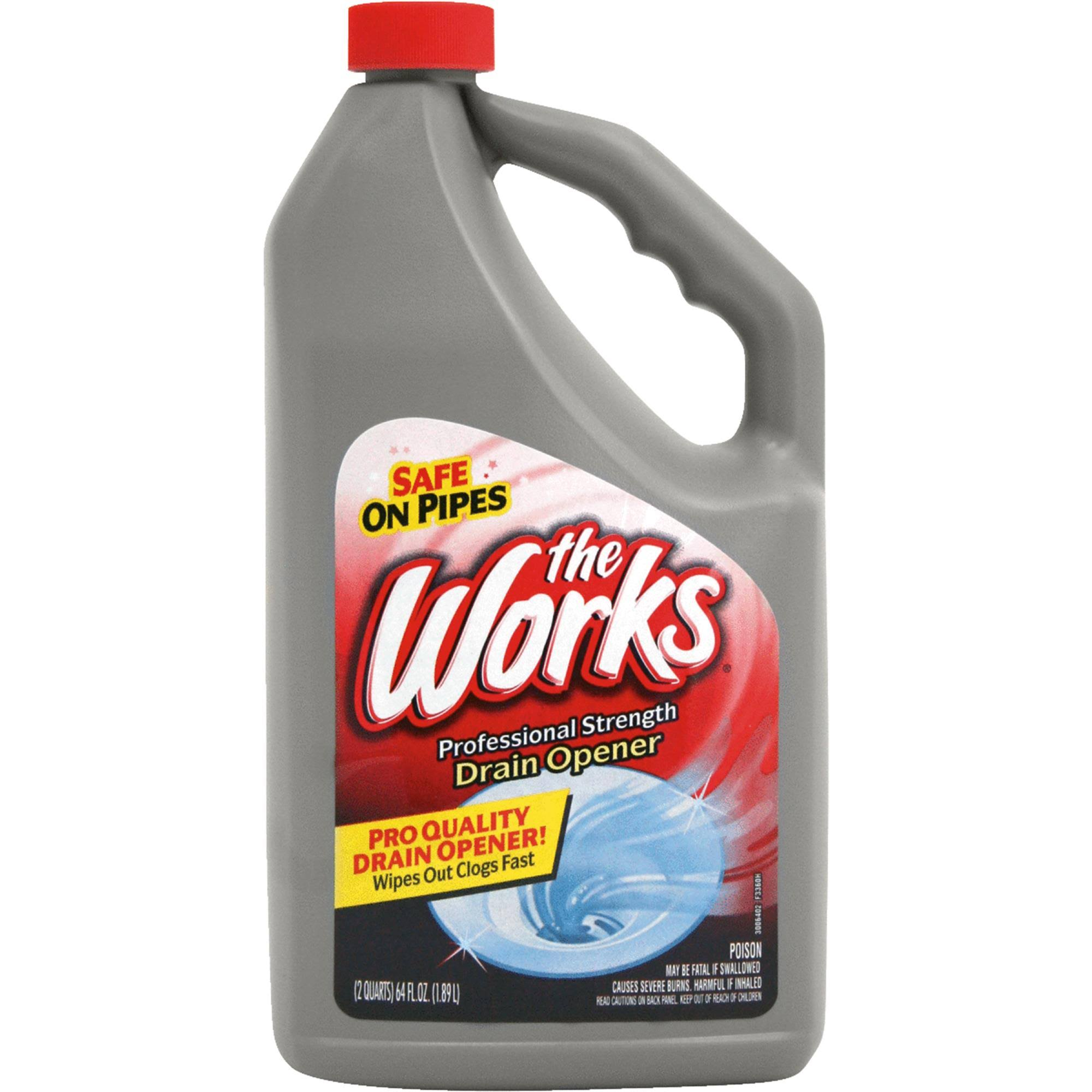 The Works Professional Strength Drain Opener - 64oz