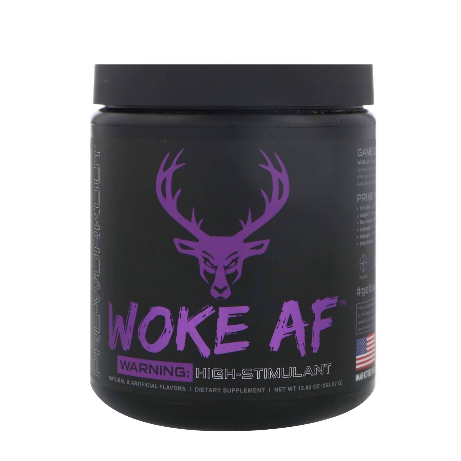 Bucked Up Woke AF High Stim Pre-Workout (Grape - 30 Servings)