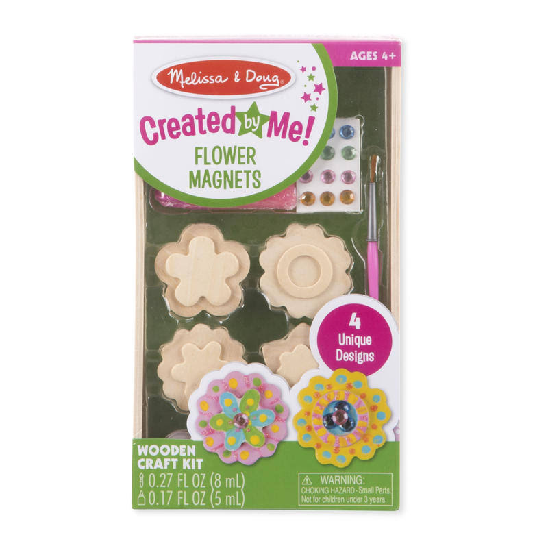 Melissa & Doug Created by Me Wooden Magnets Craft Kit - Flower