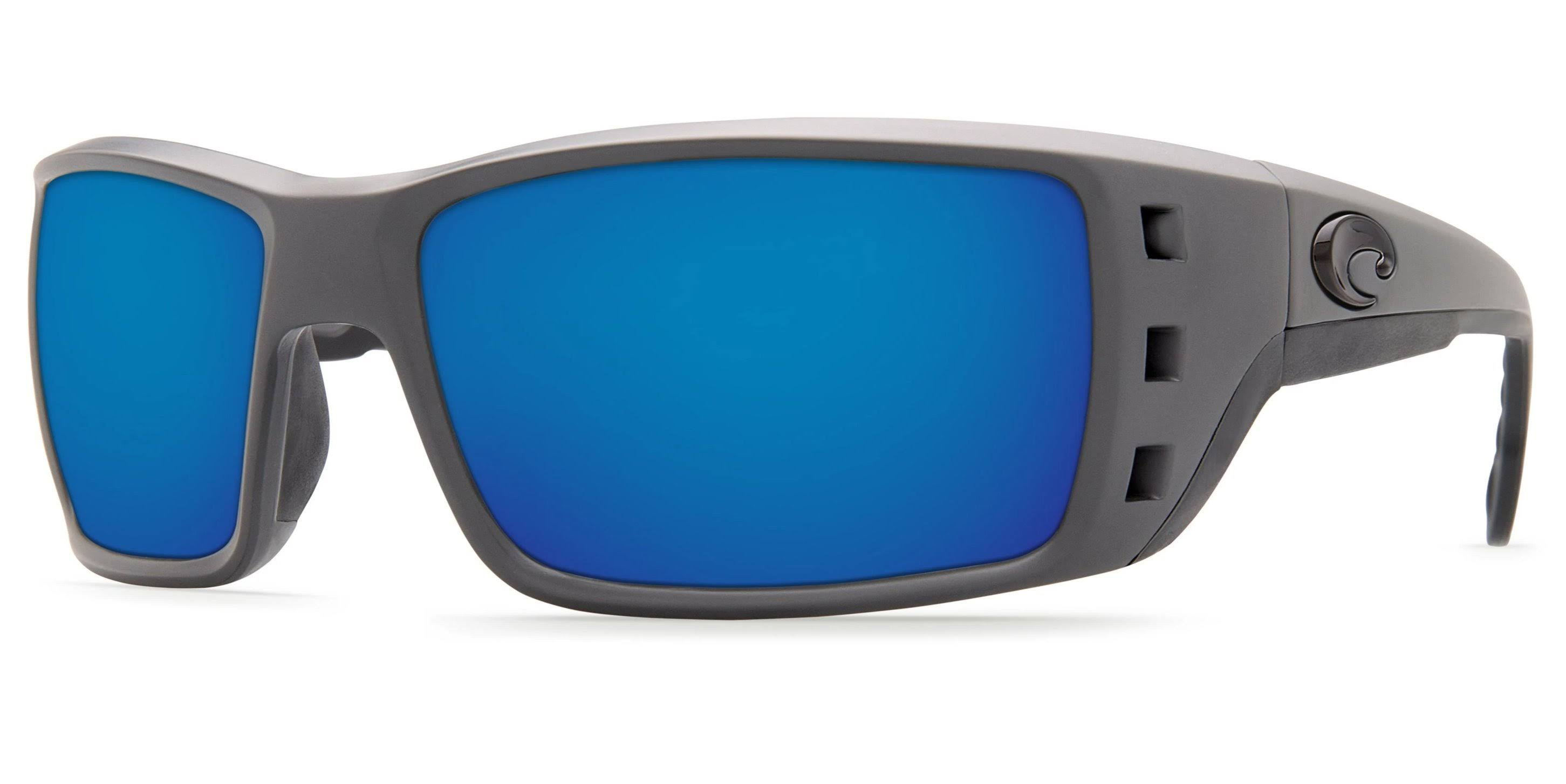 Costa Del Mar Polarized Permit Sunglasses - Matte Gray, Blue Mirror, 115mm