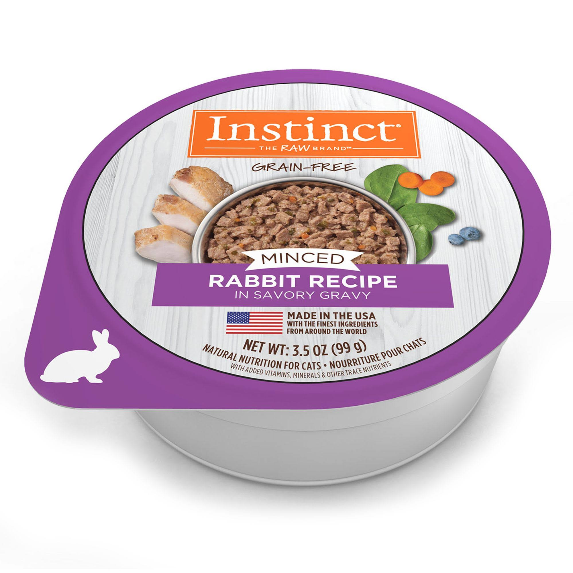 Instinct Minced Rabbit Recipe Wet Cat Food