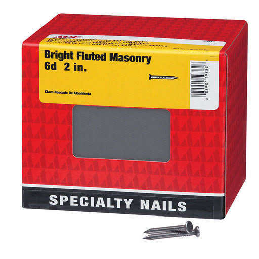 Ace 6D 2 in. L Masonry Bright Steel Nail Fluted Shank Flat 5 lb. 53342