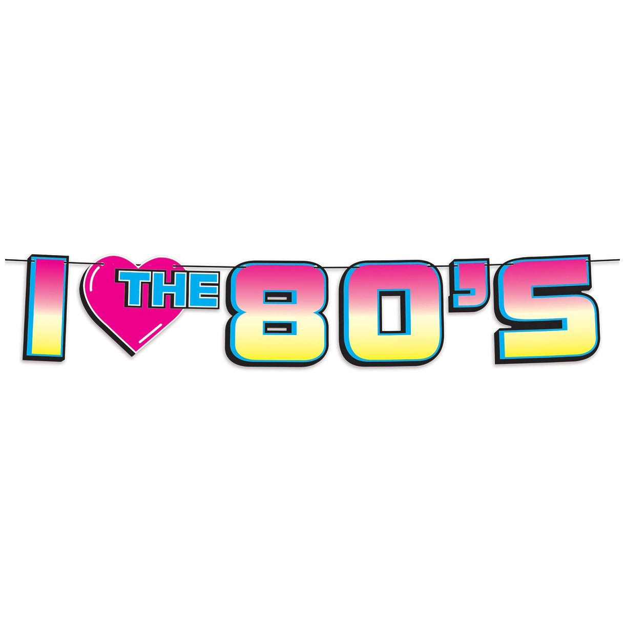 "Beistle ""I Love The 80's"" Streamer - 7"" x 6'"