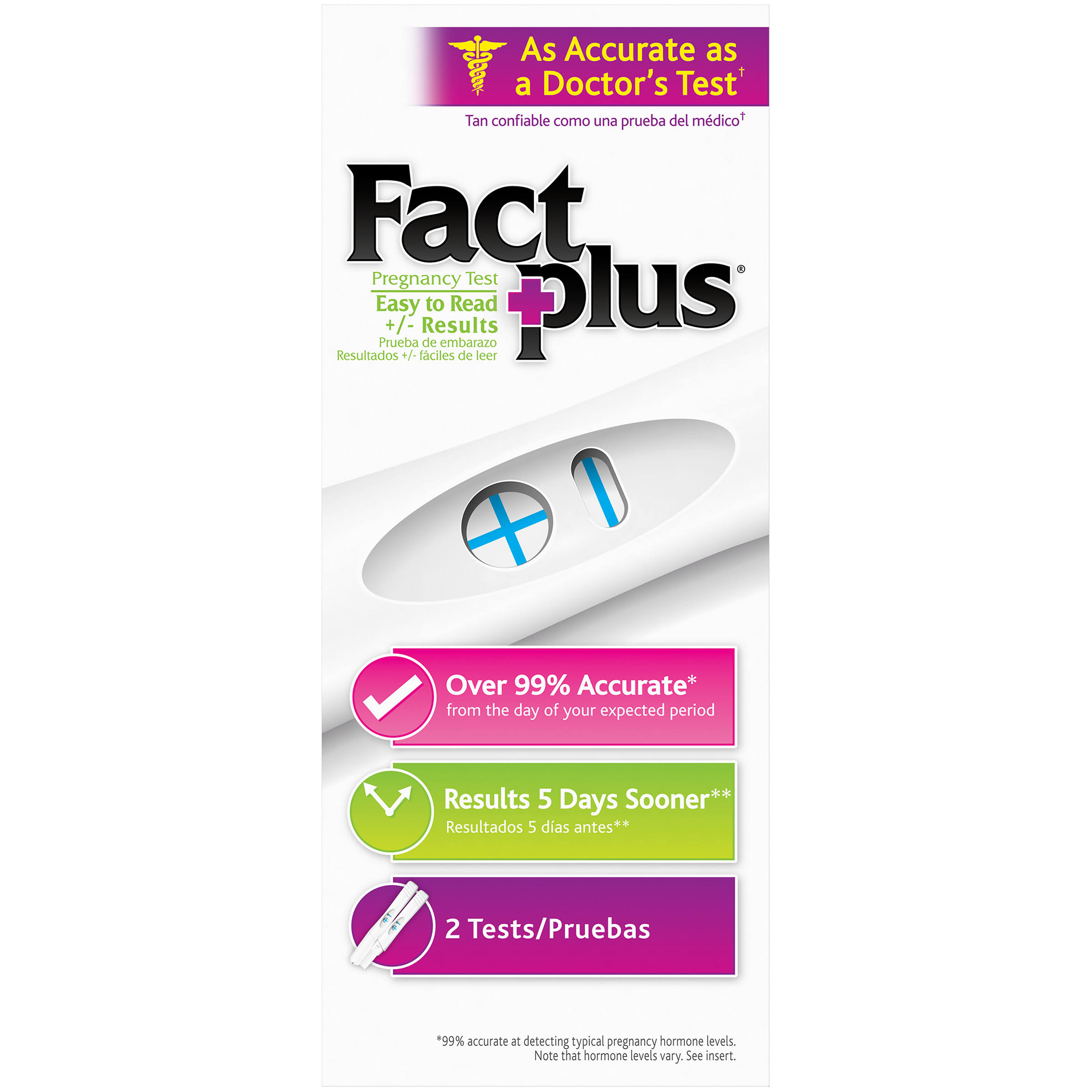 Fact Plus Select One Step Pregnancy Tests - 8pk