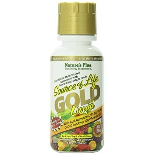 Nature's Plus Source of Life Gold Liquid - Tropical Fruit