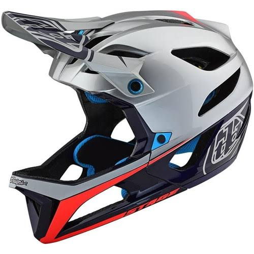 Troy Lee Designs Stage MIPS Helmet Race Silver/Navy, XL/XXL