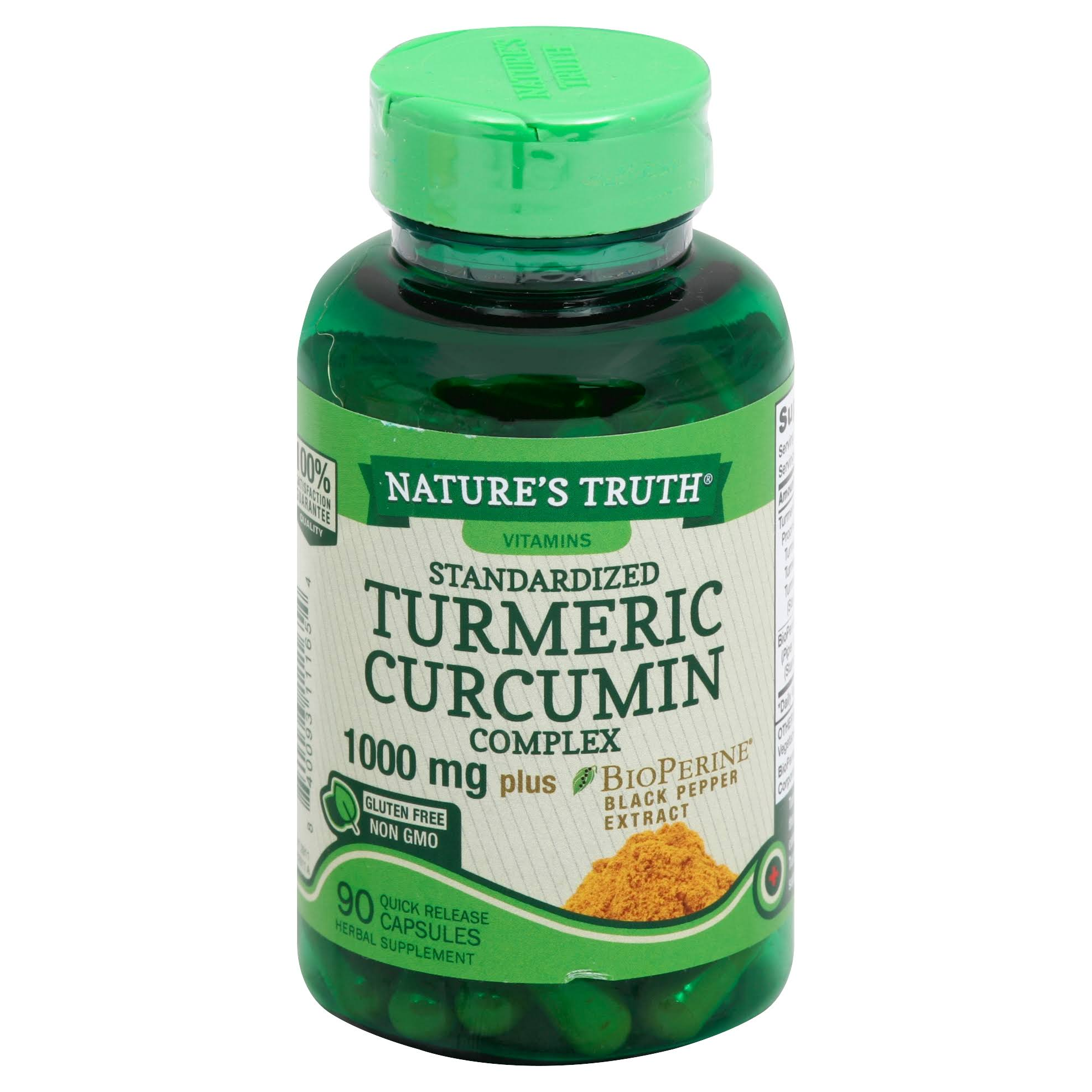 Nature's Truth Standardized Turmeric Curcumin Complex - 2000 mg, 90 Caps