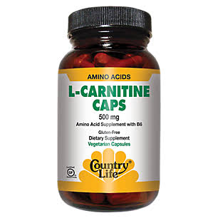 Country Life L-carnitine Caps Dietary Supplement - 60 Vegetarian Capsules