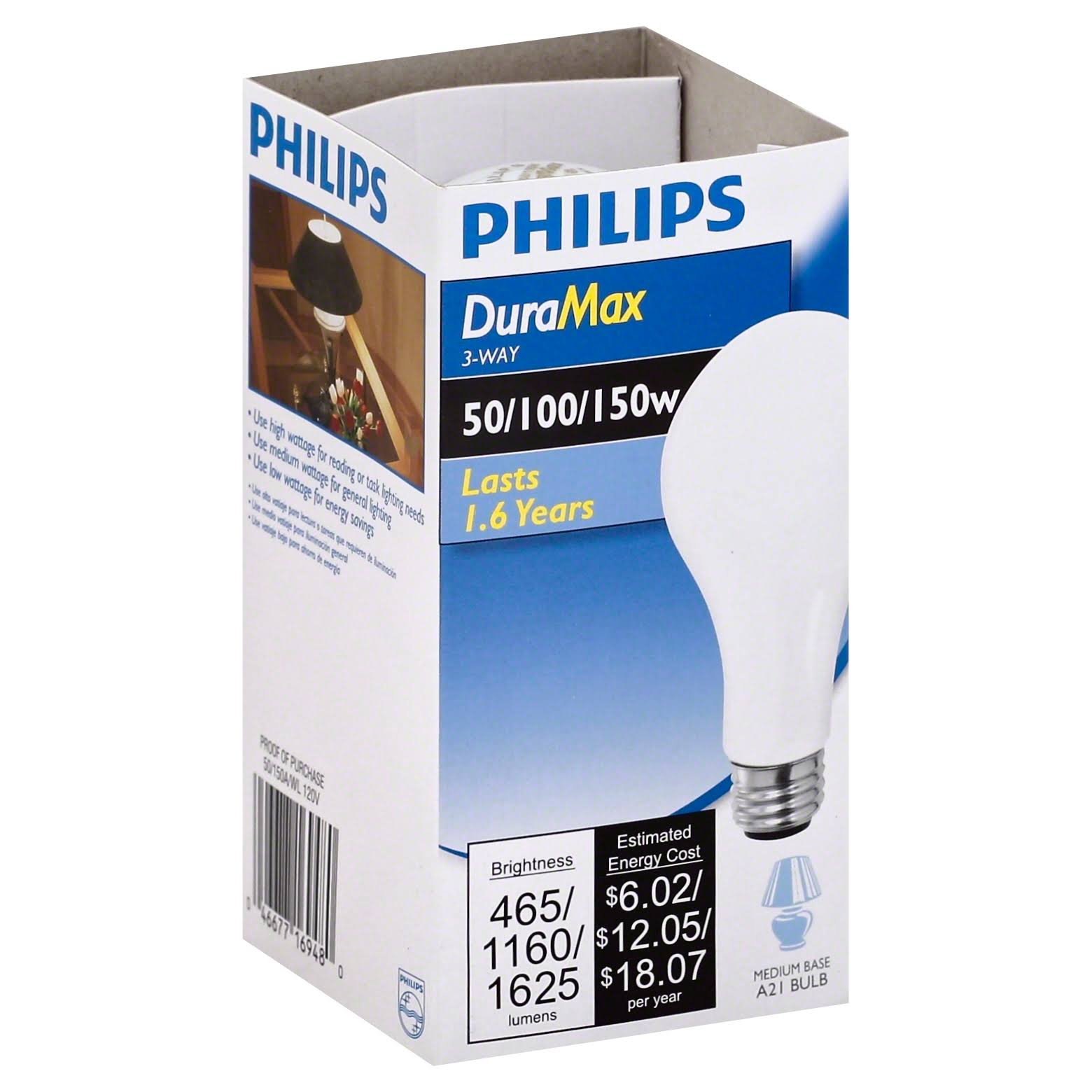 Philips Bulbs Duramax A21 Incandescent Light Bulb - Soft White, 3 Way