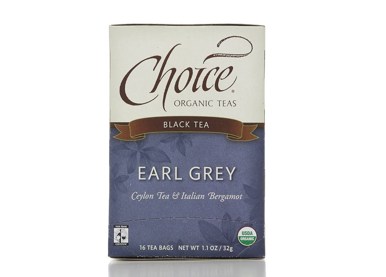 Choice Organic Teas Black Tea - Earl Grey, 16 Tea Bags