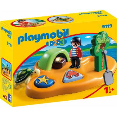 Playmobil 9119 1.2.3 Pirate Island Set