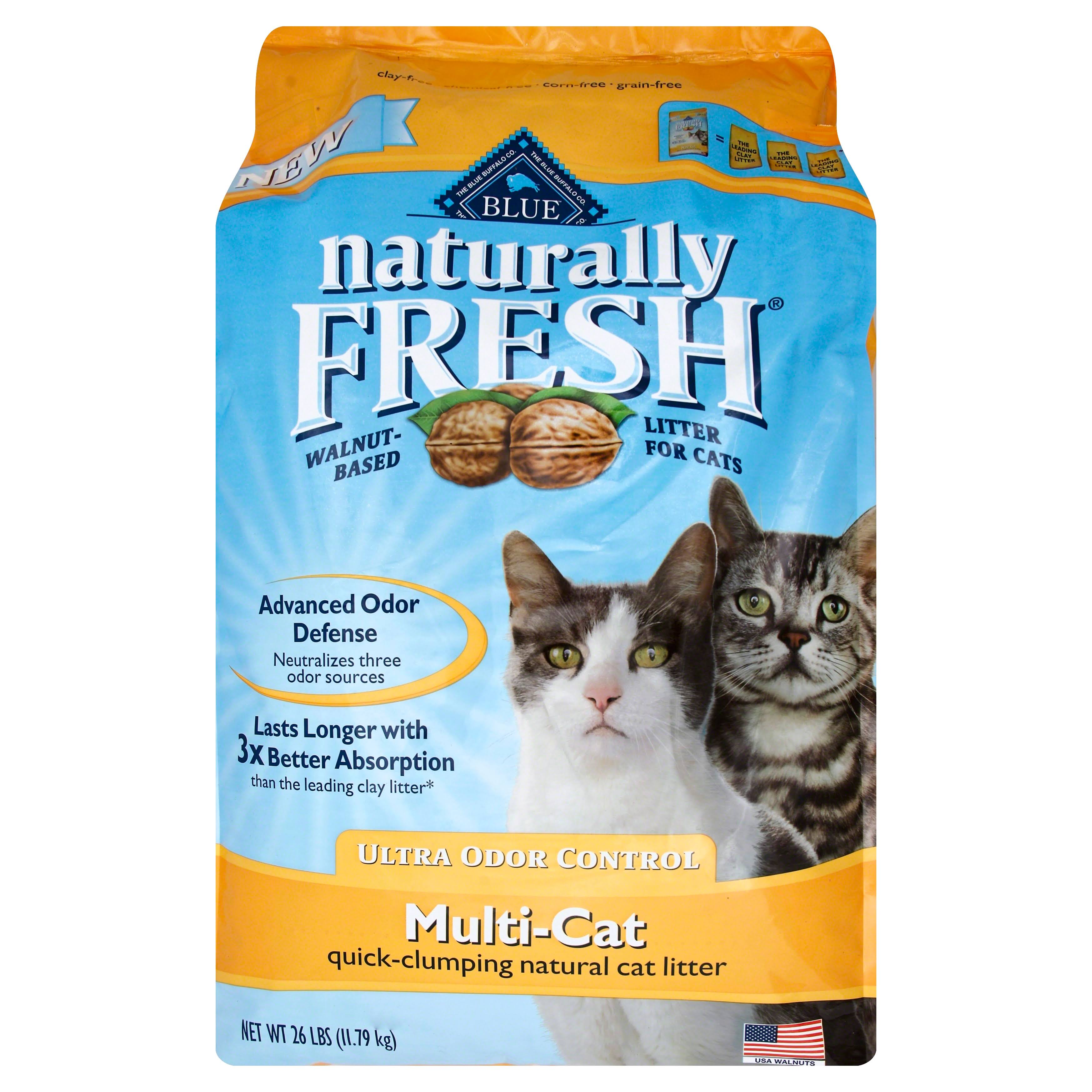 Blue Buffalo Naturally Fresh Multi Cat Clumping Cat Litter - 26lbs