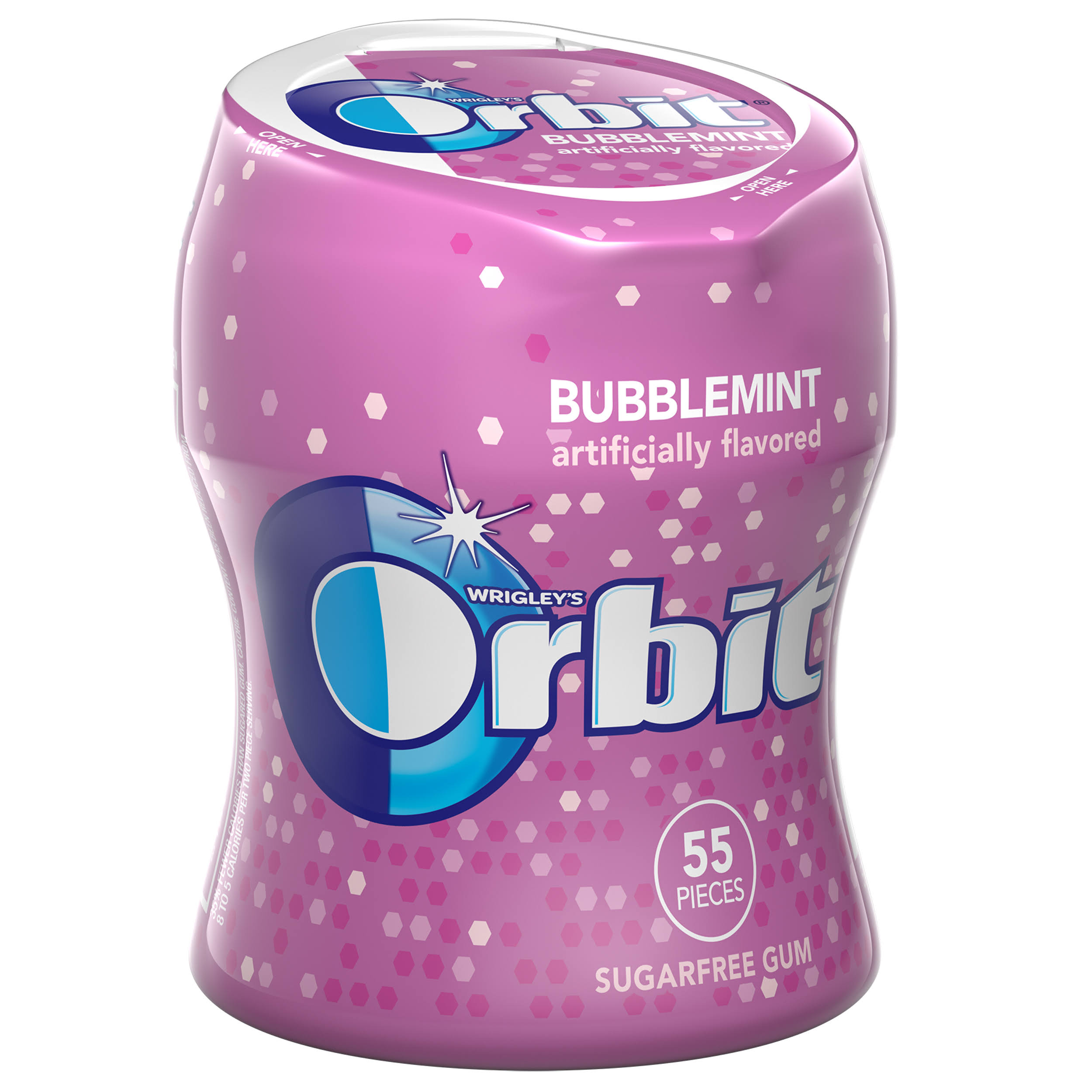 Wrigley's Orbit Sugarfree Gum - Bubblemint, 55 Pieces