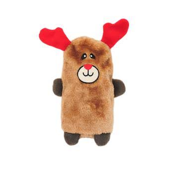 ZippyPaws Colossal Buddy Holiday Reindeer Plush Dog Toy