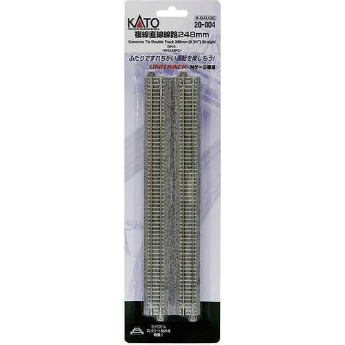 KATO 20-004 Unitrack Double Track - 248mm, 2pcs, N Scale