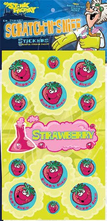 Dr Stinkys Strawberry Scented Stickers - 2pc