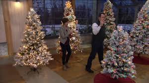 Bethlehem Lights Christmas Trees Qvc by Hallmark Snowdrift Spruce Tree With Quick Set Technology On Qvc