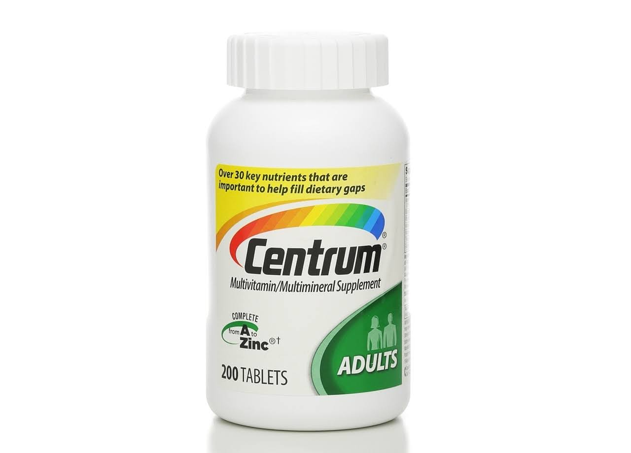 Centrum Adults Multivitamin/Multimineral Tablets - x200