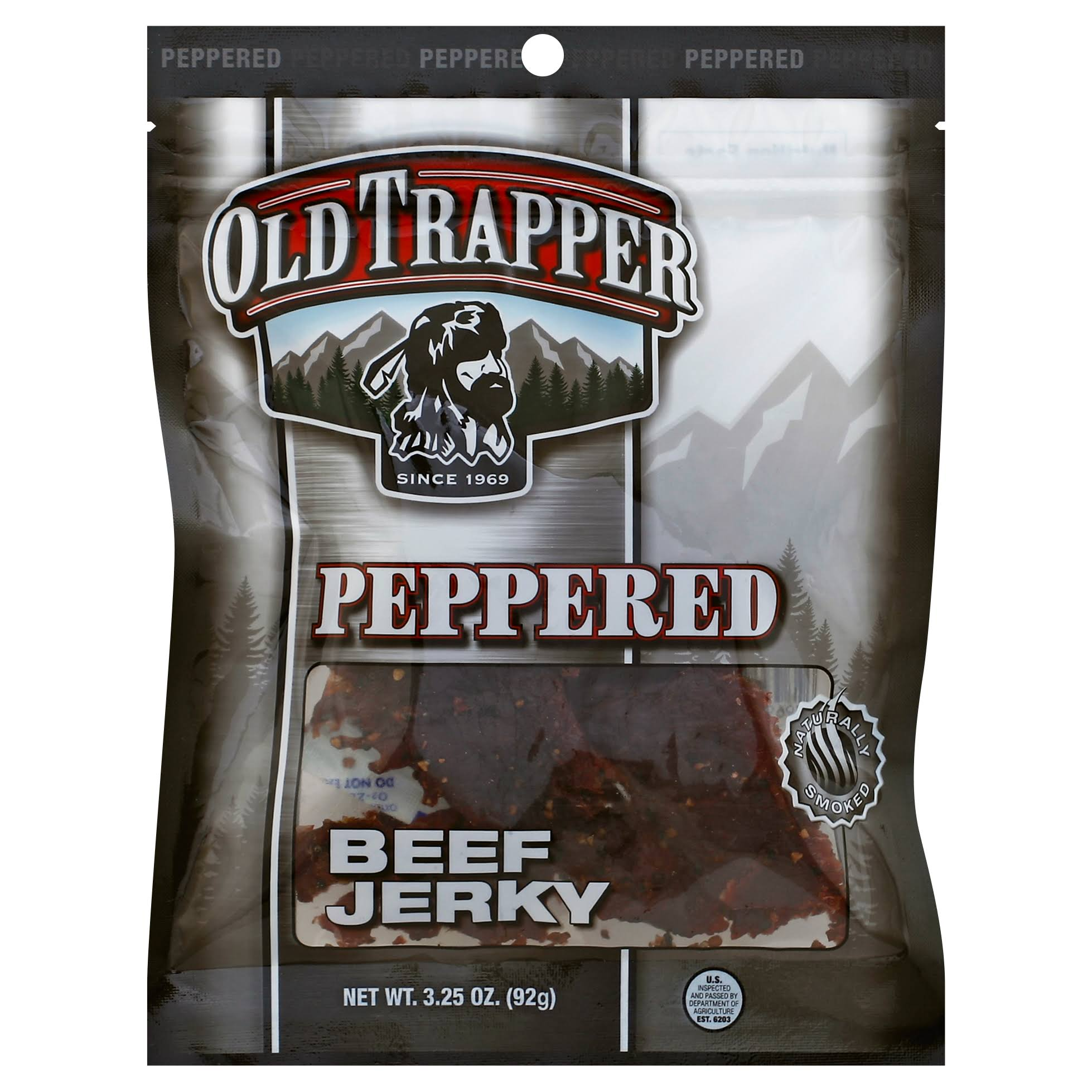 Old Trapper Peppered Beef Jerky - 3.25oz
