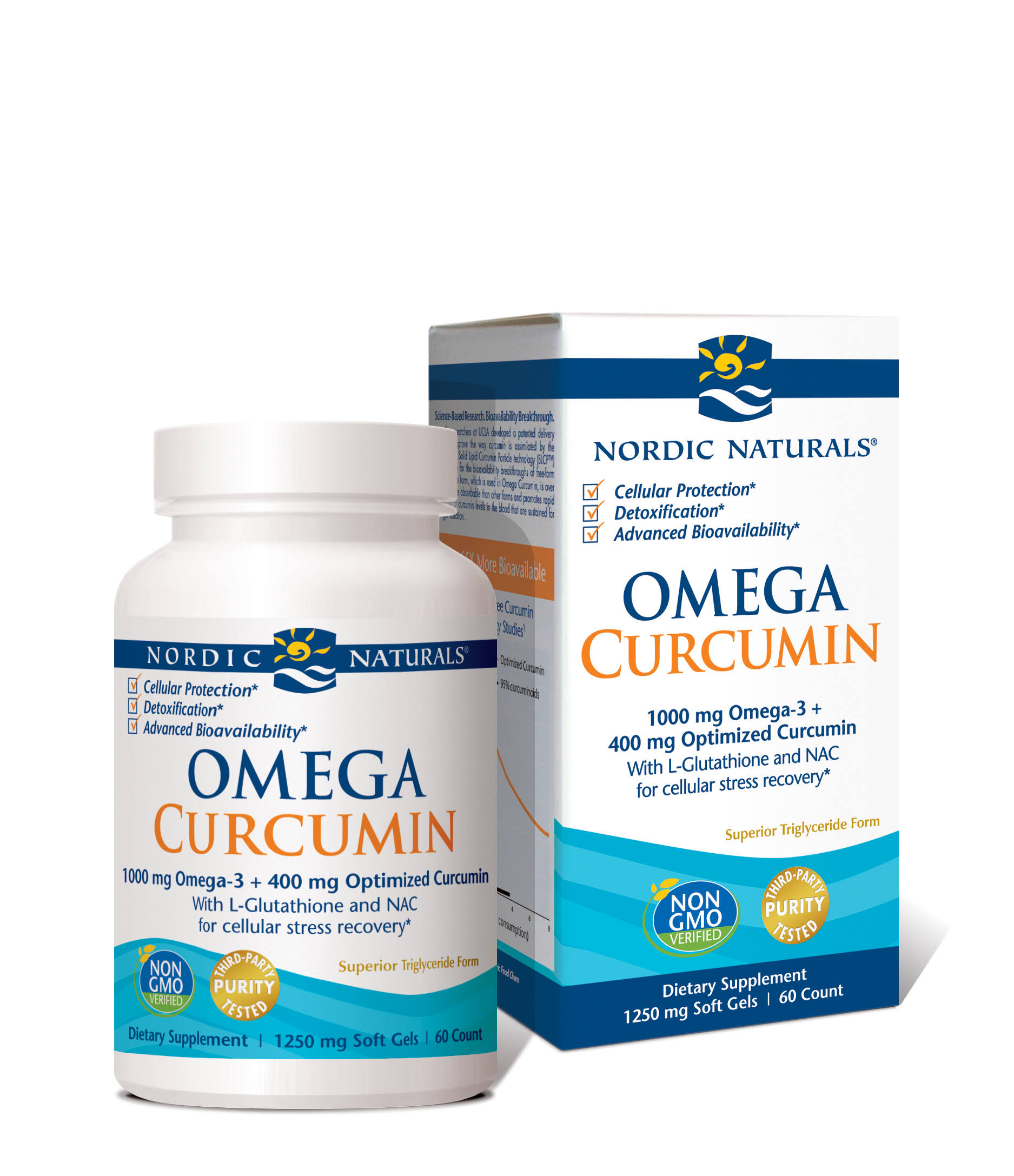 Nordic Naturals Omega Curcumin Dietary Supplement - 1250mg, 60ct