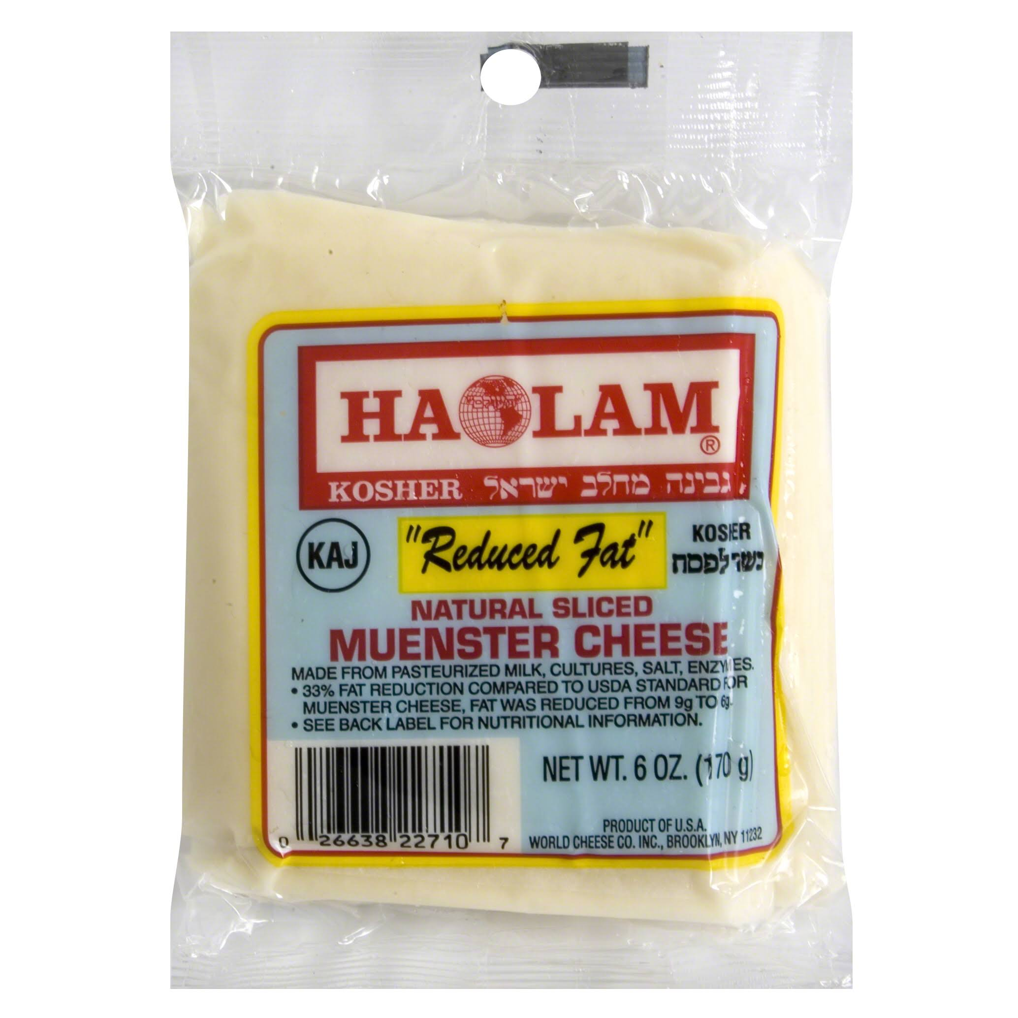Haolam Sliced Cheese, Natural, Muenster - 6 oz