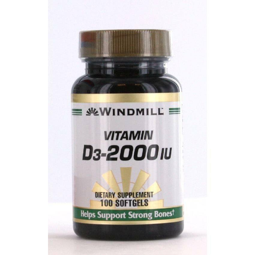Windmill Vitamin D3-2000 - 100 Softgels