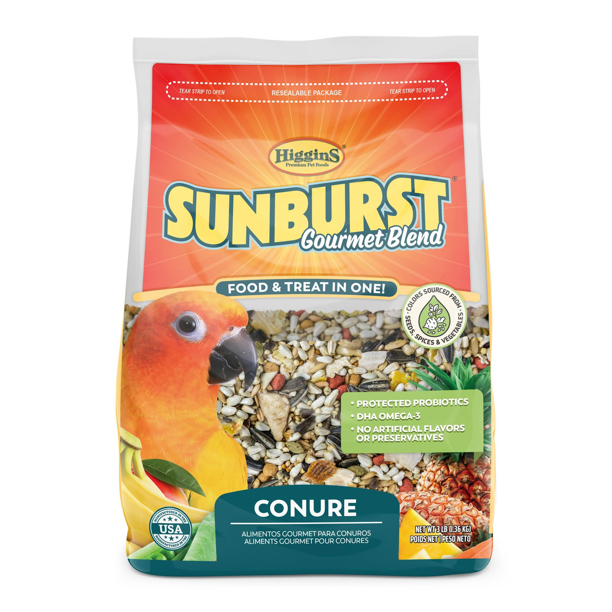 Higgins Sunburst Conure Food