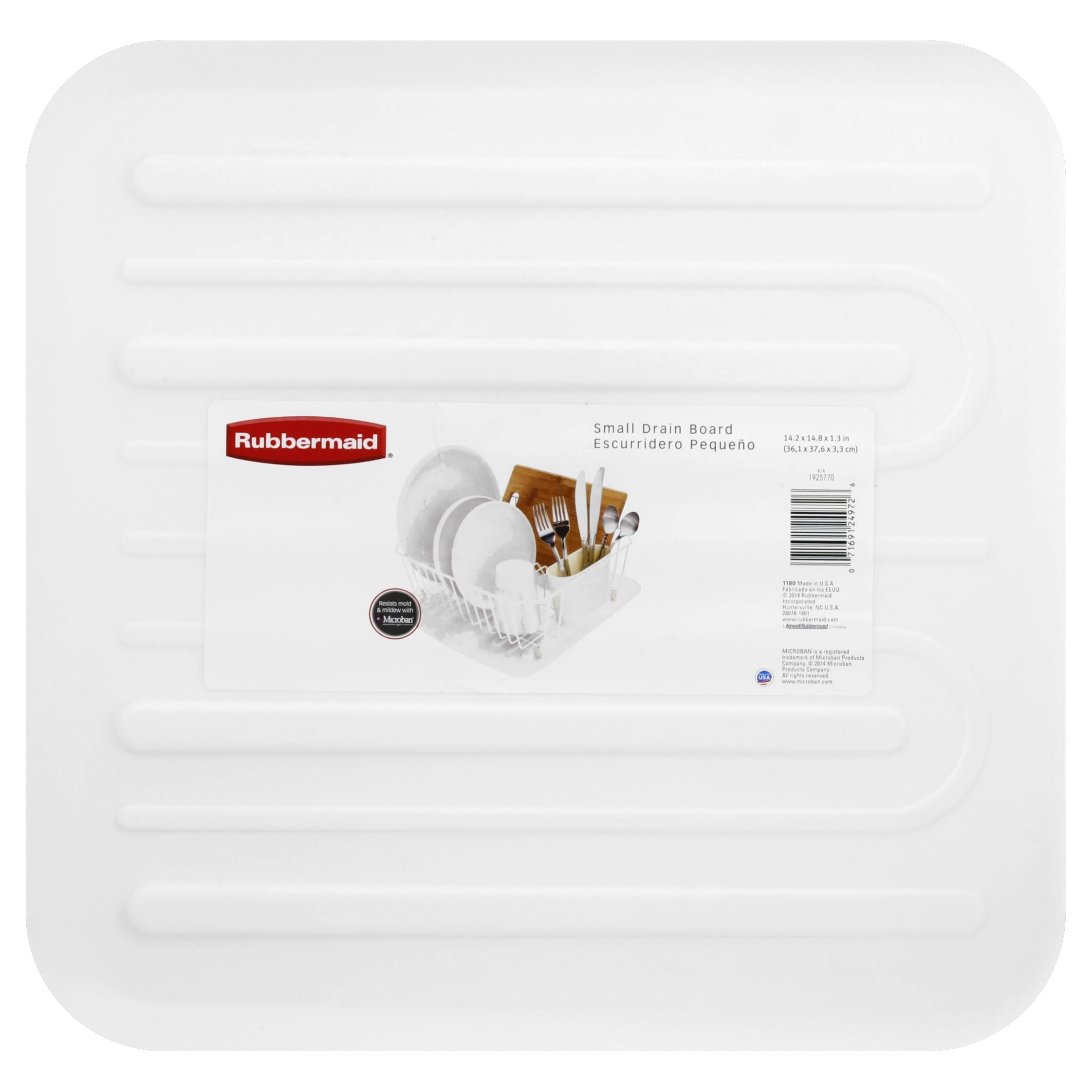 Rubbermaid Drain Board - Small, White