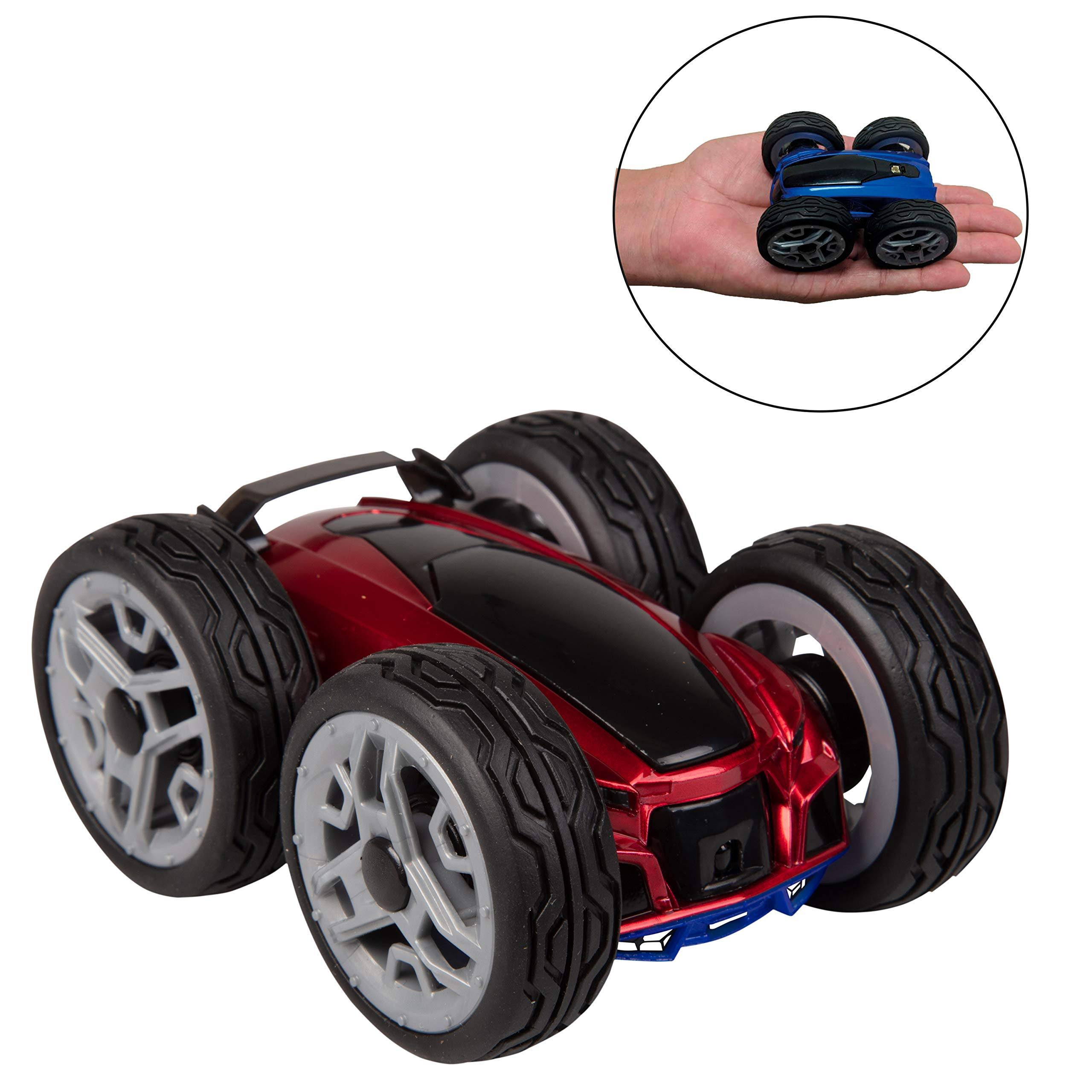 California Creations Dyno RC Insane Stunt Car - Lunatic - Remote Control Toy Car Spins and Flips - Red/Blue - Ages 6+