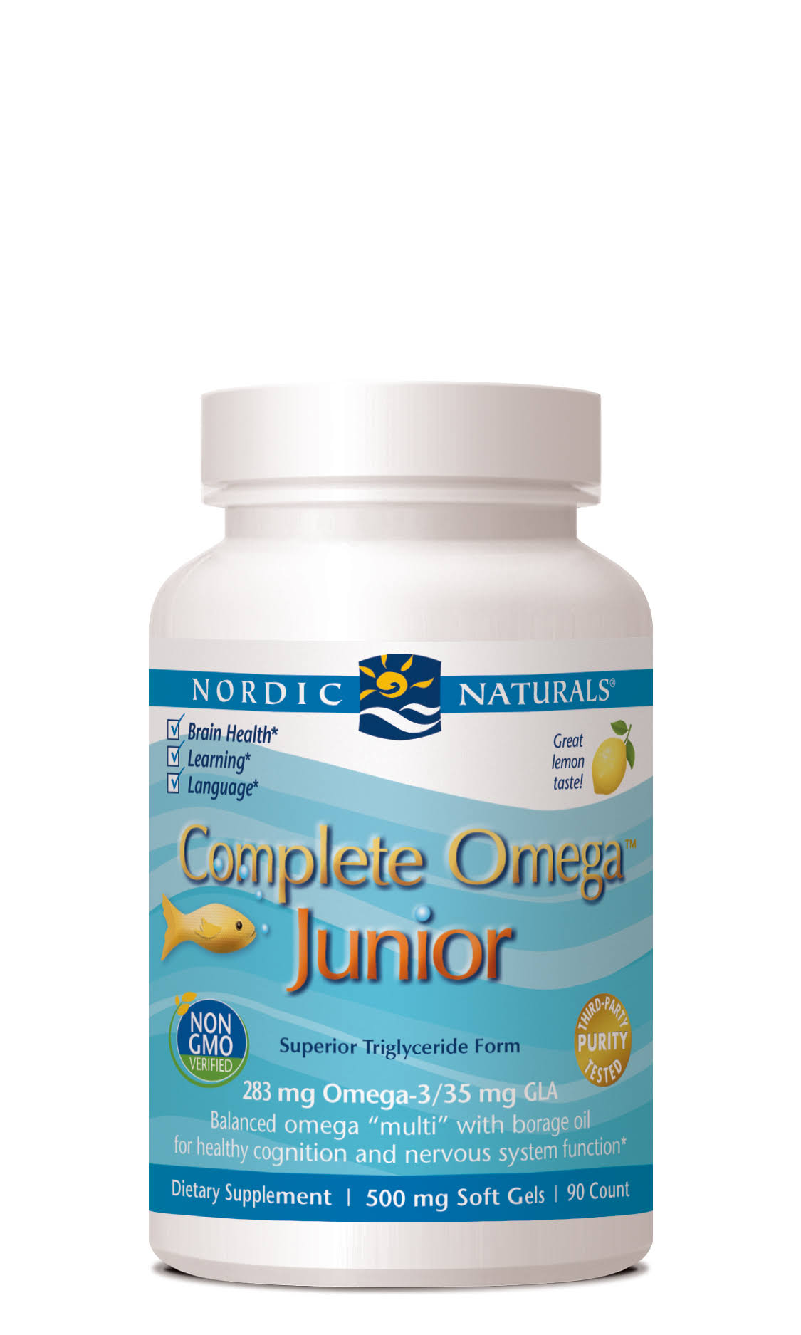 Nordic Naturals Complete Omega Junior - Lemon, 500mg, 90 Count