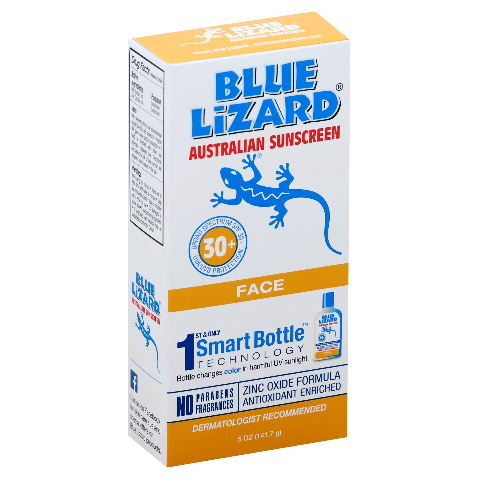 Blue Lizard Face Sunscreen - SPF 30+, 5oz