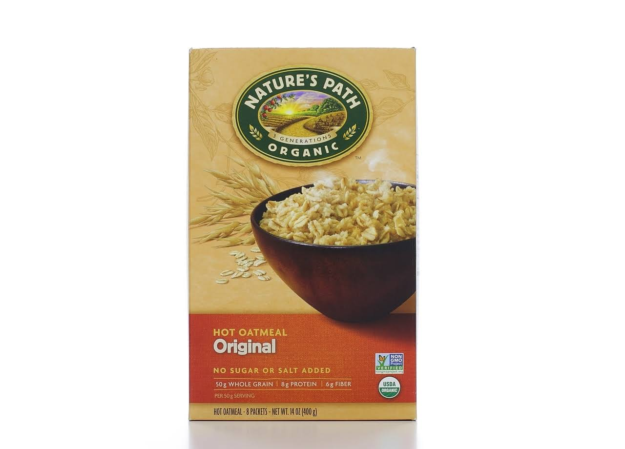 Nature's Path: Organic Instant Hot Oatmeal Original 8 Packets, 14 oz