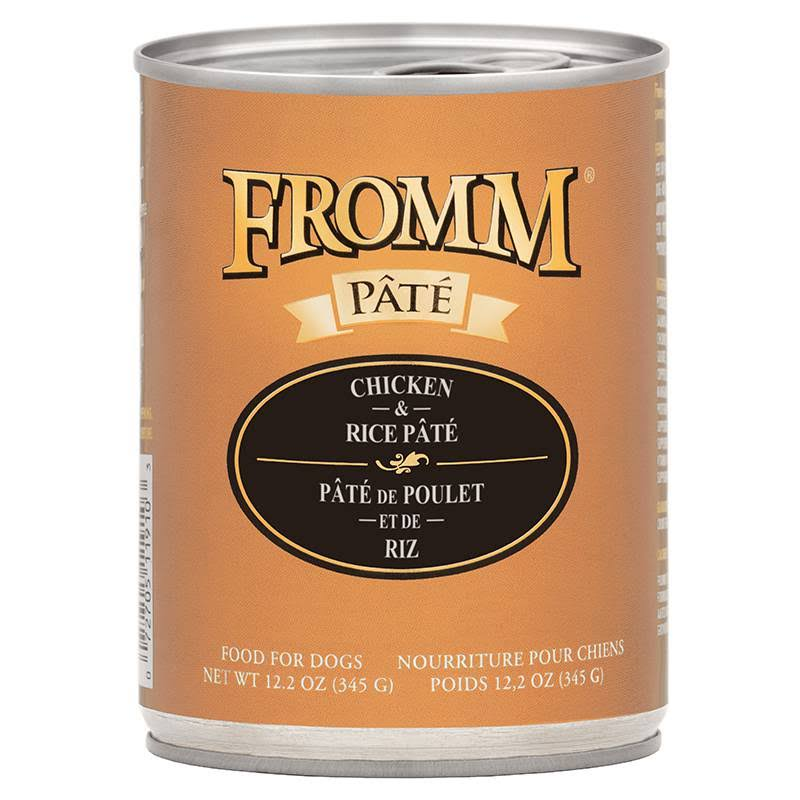Fromm Chicken & Rice Pate Canned Dog Food 12.2 oz