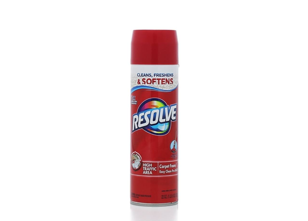Resolve Foam Carpet Cleaner and Stain Remover - Cleans, Freshens, Softens, 650ml