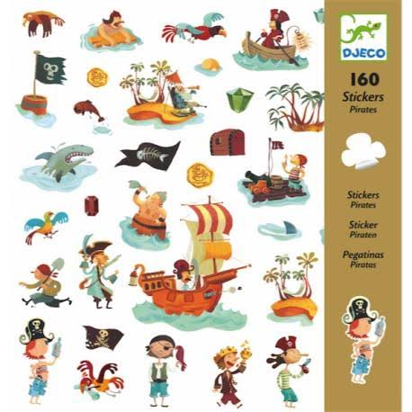 Djeco Pirates Sticker - 160 Stickers