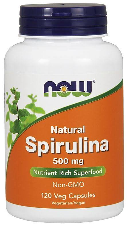Now Foods Spirulina - 500mg, 20 Veg Capsules