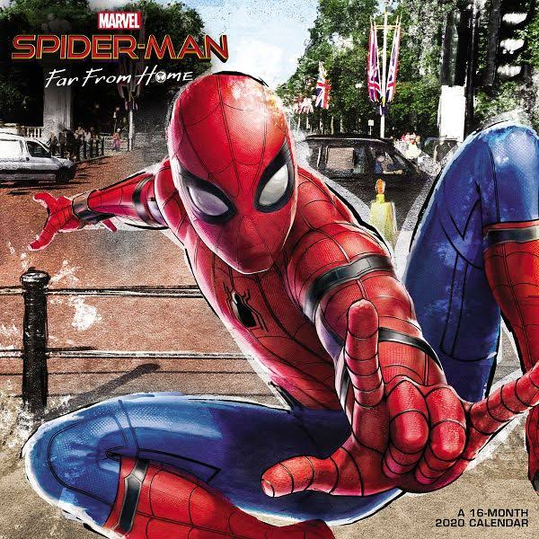 Mead Marvels Spider-Man Far from Home 12x12 Monthly Wall Calendar - Entertainment